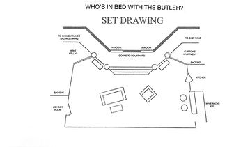 set drawing  Who's In Bed With the Butle