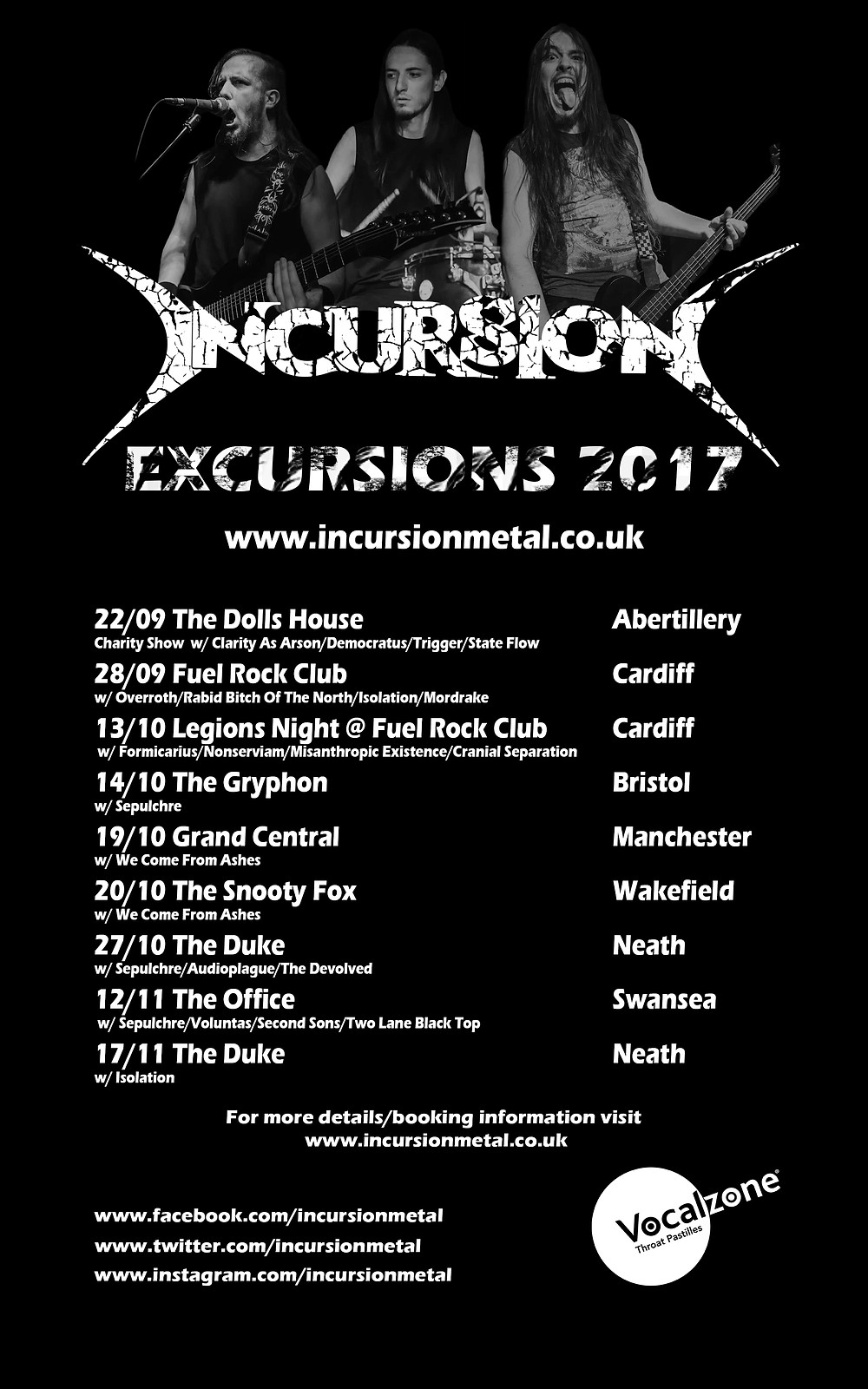 Incursion upcoming shows