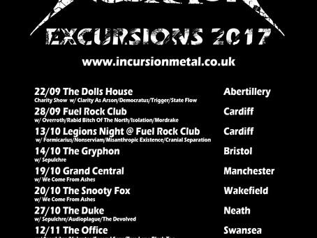 Incursion Excursions Autumn 2017