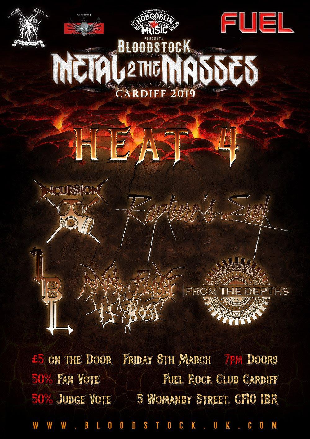 Metal 2 the Masses Cardiff 2019 Heat 4
