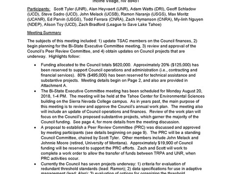March Council Meeting Notes
