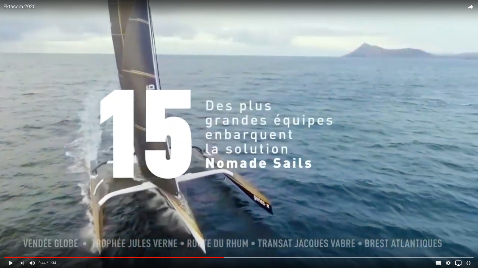 Course à la voile en direct Ektacom