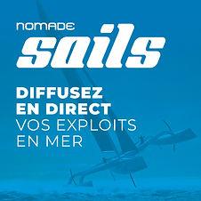 Découvrez Nomade Sails, pour diffuser en direct les plus grandes courses de voiles du monde