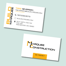 Marquee Business Cards