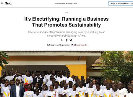 Our founder and CEO talks about running a business that promotes sustainability