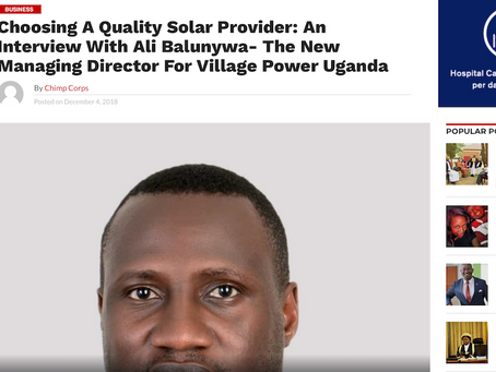 Choosing a quality solar provider: an Interview with Ali Balunywa - new Managing Director