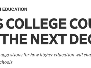 Nine Ways College Could Evolve in the Next Decade