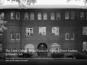 The Little College Where Tuition Is Free and Every Student Is Given a Job