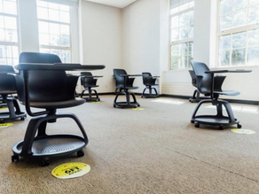 Can Active Learning Co-Exist With Physically Distanced Classrooms?