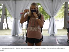 Despite Mass Testing, University Of Illinois Sees Coronavirus Cases Rise