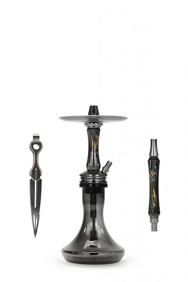 "Ocean Hookah Kaif S ""Small"" – Black / Onyx / Midnight"