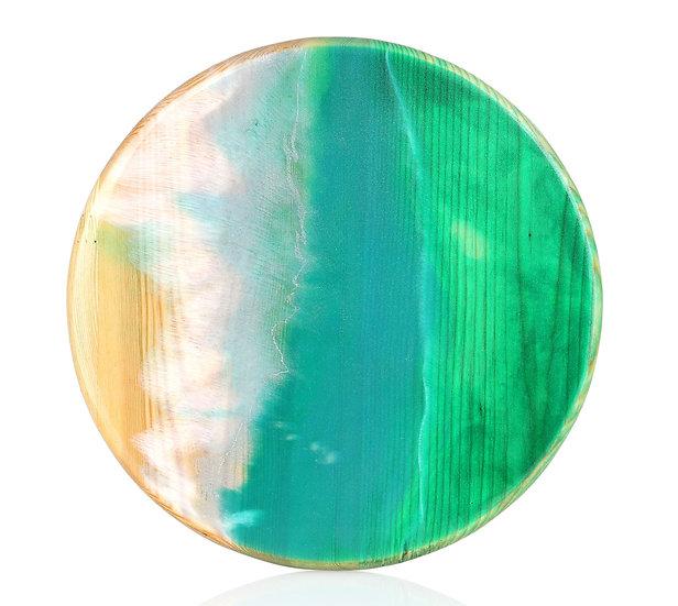 First Hookah Board Round Green Atlantic