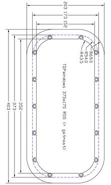 Renolit Portlight Dimensions