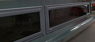 Renolit fixed boat window - mitred corners