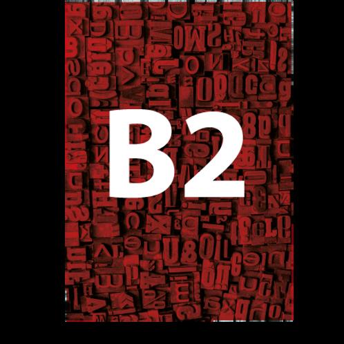 B2 Backlit Poster