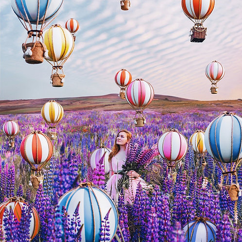 Balloons and flowers mood