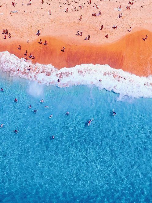 Ocean from above as a painting 10
