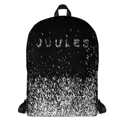Juules White On Black Splatter Backpack