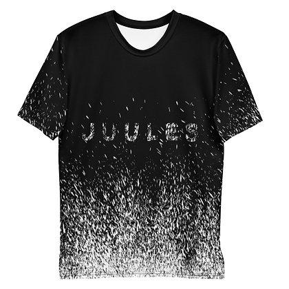 White On Black Splatter T-Shirt