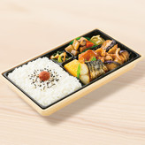 幕の内弁当(なす味噌とさばの塩焼き) 590円