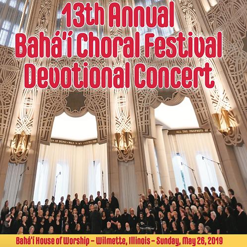 13th Annual Baha'i Choral Festival Devotional Concert - CD
