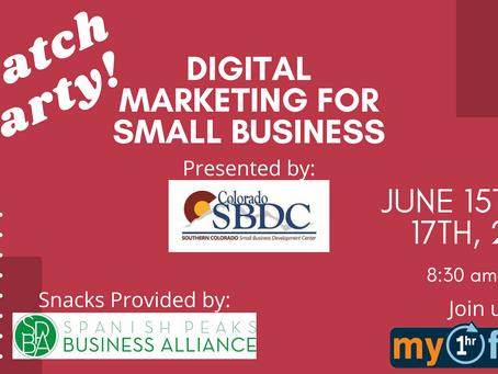 Watch Party! SBDC Digital Marketing Class