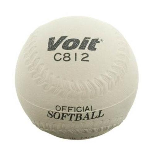 *Voit® 12'' Sponge Center Softball - White SKU# VSBC812S