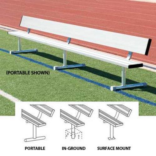 Player's Bench With Back 21'L - Portable design SKU# BEPG21