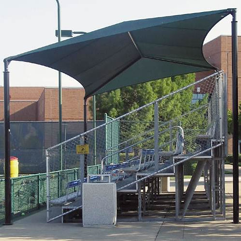 Slanted Bleacher Covers Front is 10'H and Rear is 13'H 20' x 26' SKU# 1100716