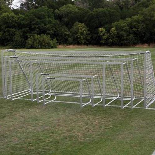 "Alumagoal Natural Aluminum 3"" Round Club Goals Pair SKU# SGA320"
