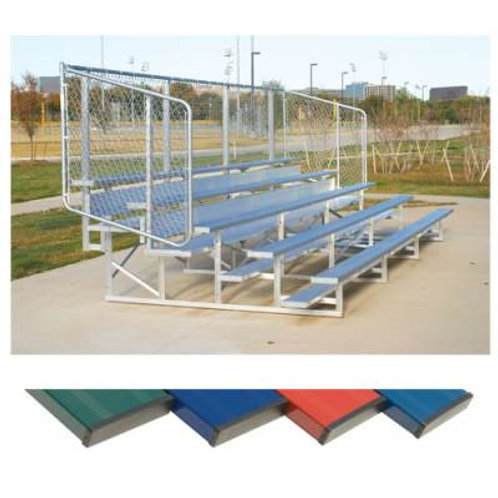 Powder Coated Bleachers with Chain Link Fencing SKU NB0415C