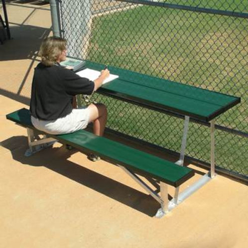 Scorers Table with Bench Natural Aluminum SKU# BEST08