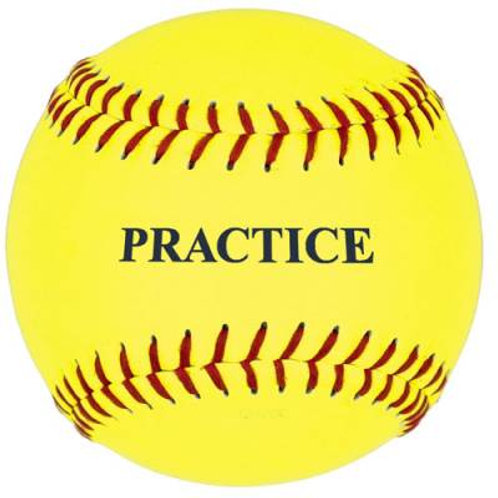 *11'' Yellow Practice Softball Dzn.SKU# 5PSBY11