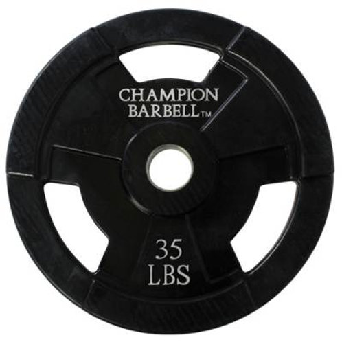 *Champion Barbell Rubber Coated Olympic Grip Plate SKU# 1272598