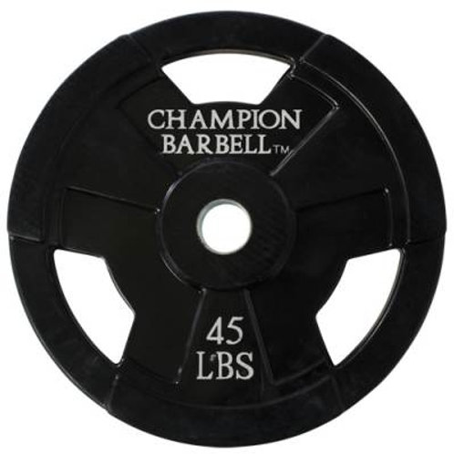*Champion Barbell Rubber Coated Olympic Grip Plate SKU: 1272604