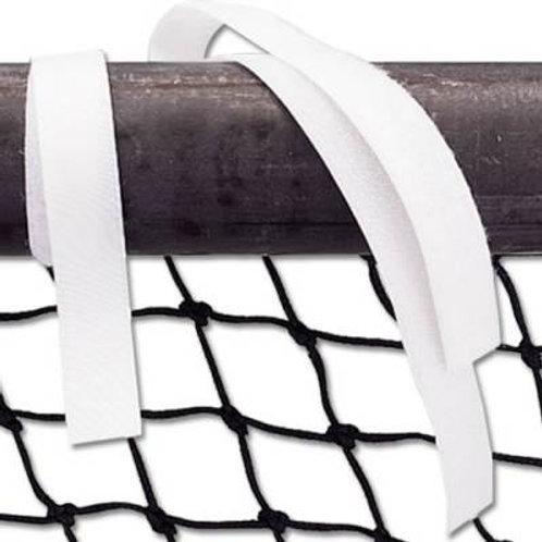 """*Alumagoal Hook & Loop Net Straps White - 16"""" SKU# 1033502"""