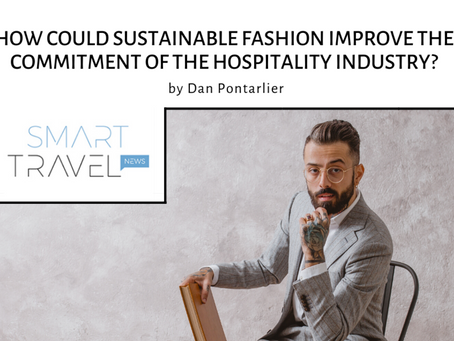 How can sustainable fashion improve the commitment of the hospitality sector?