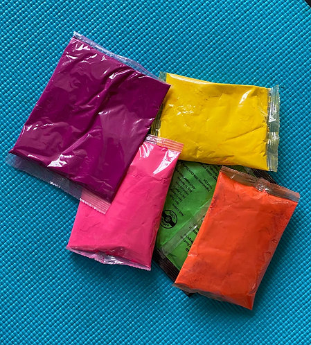Holi Colour - Small pack of 10 (100 gms each)