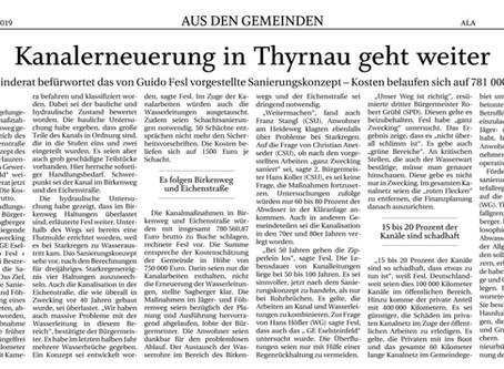 Kanalerneuerung in Thyrnau geht weiter -