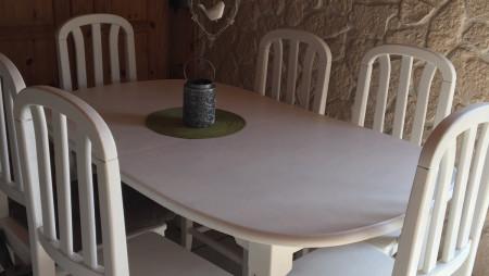 Tisch und Stühle bekommen einen neuen Look