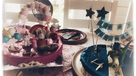 Einhorn und Polizei Kuchen mit Fondant - Fertigkuchen