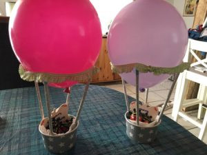 Einladungskarten Heißluftballon DIY