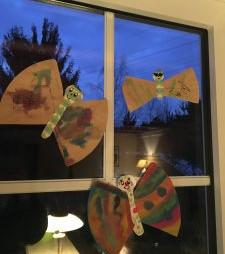 Schmetterlinge aus Filtertüten - DIY - basteln Kinder
