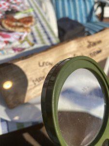 Lupe Türschild Sonne DIY