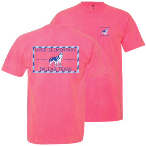 Comfort Colors Tee in Neon Pink