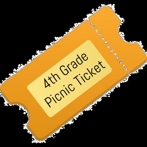 4th Grade Picnic Lunch Ticket