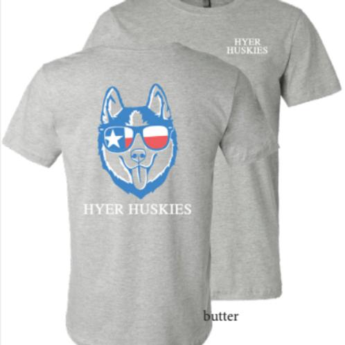 Hyer Huskies w/Glasses in Grey
