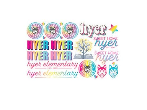 Sticker Pack in Pink, waterproof