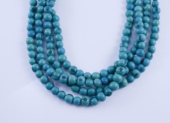 Acai Necklace - 4 strands, Blue