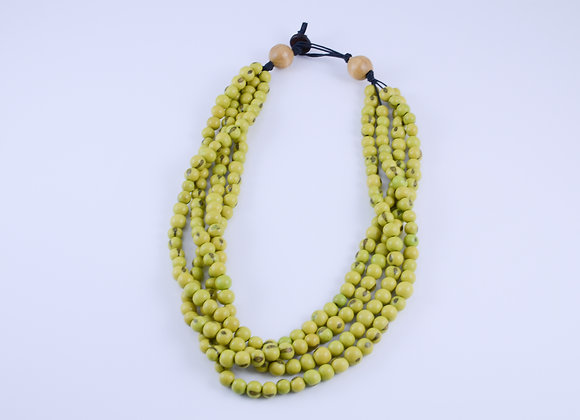 Acai Necklace - 4 strands, Lime Green